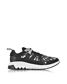 Molecular Black Neoprene and Nylon Runner Sneakers - Neil Barrett