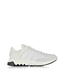 White Nylon, Leather and Nubuck Urban Runner - Neil Barrett