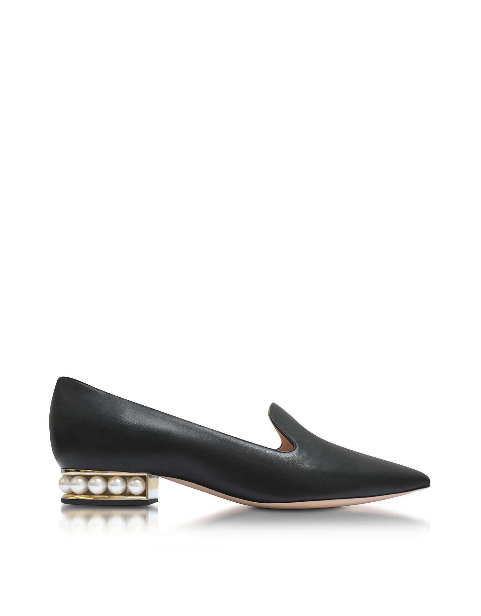 Casati Black Nappa Pearl Loafer