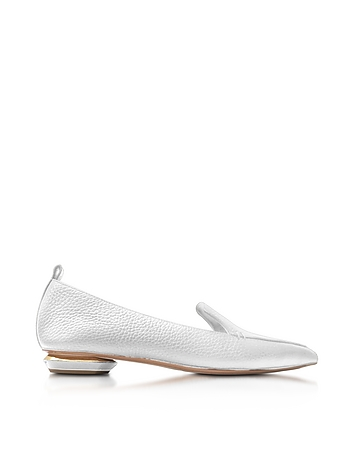 Beya White Tumbled Leather Loafer