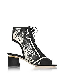 Phoenix Black Embroidered Lace-up Bootie - Nicholas Kirkwood