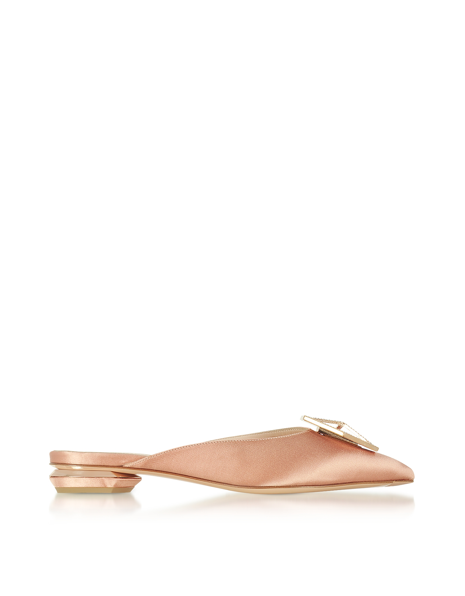 Nicholas Kirkwood Shoes, Eden Clay Satin Jewel Mule