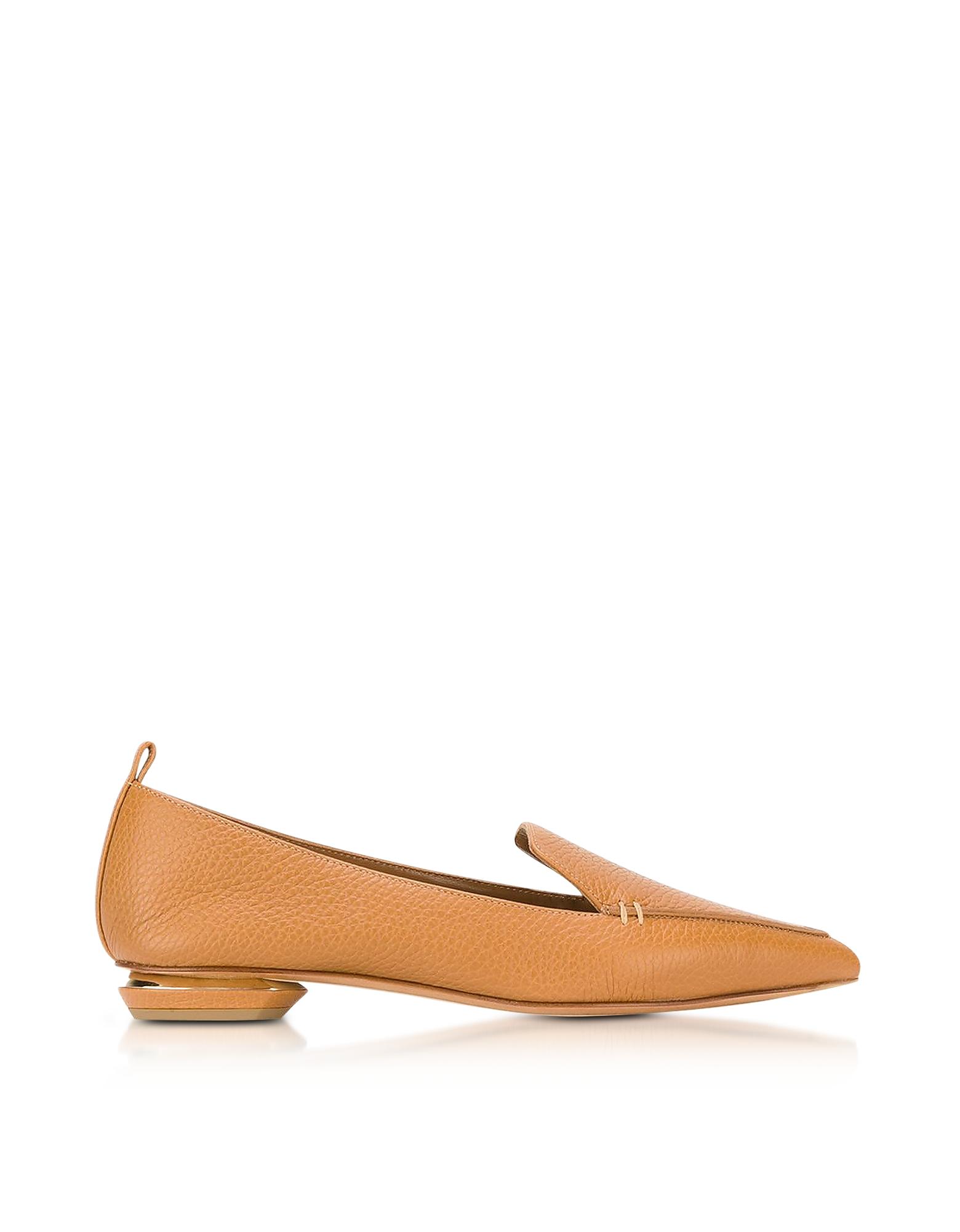 Nicholas Kirkwood Shoes, Beya Tan Leather Loafer