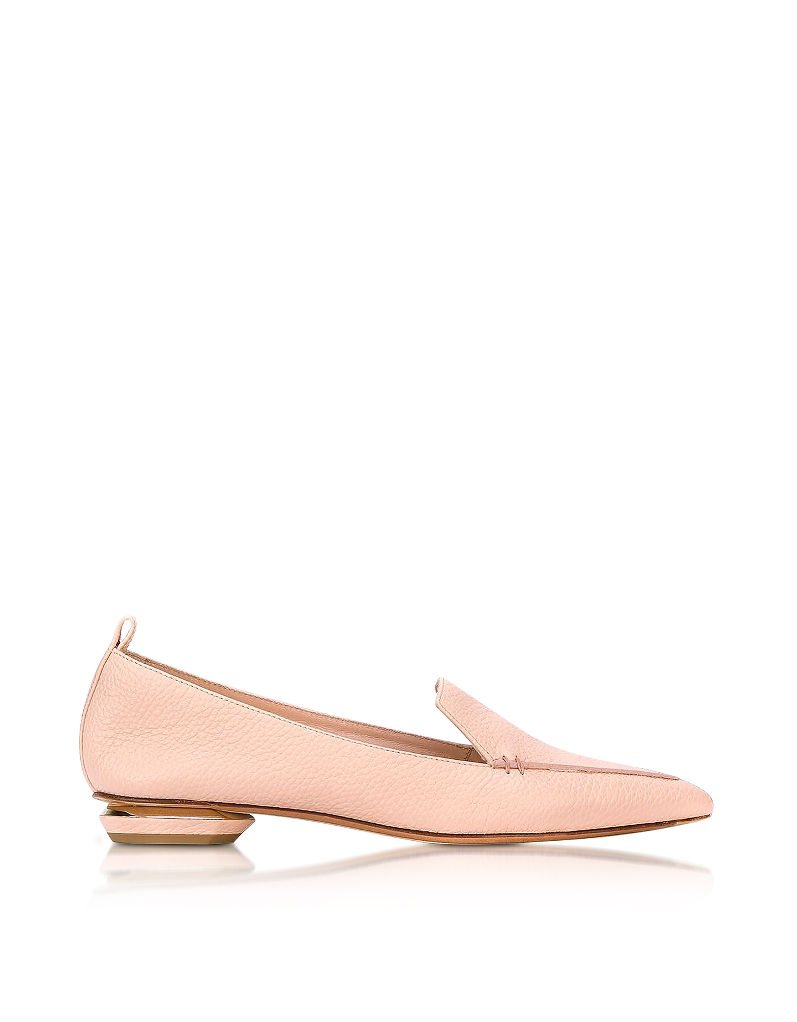 Nicholas Kirkwood Shoes, Beya Powder Pink Leather Loafer