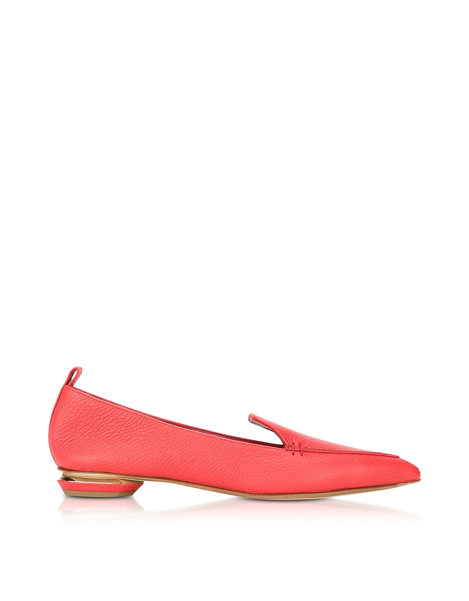 Nicholas Kirkwood Shoes, Beya Poppy Red Leather Loafer