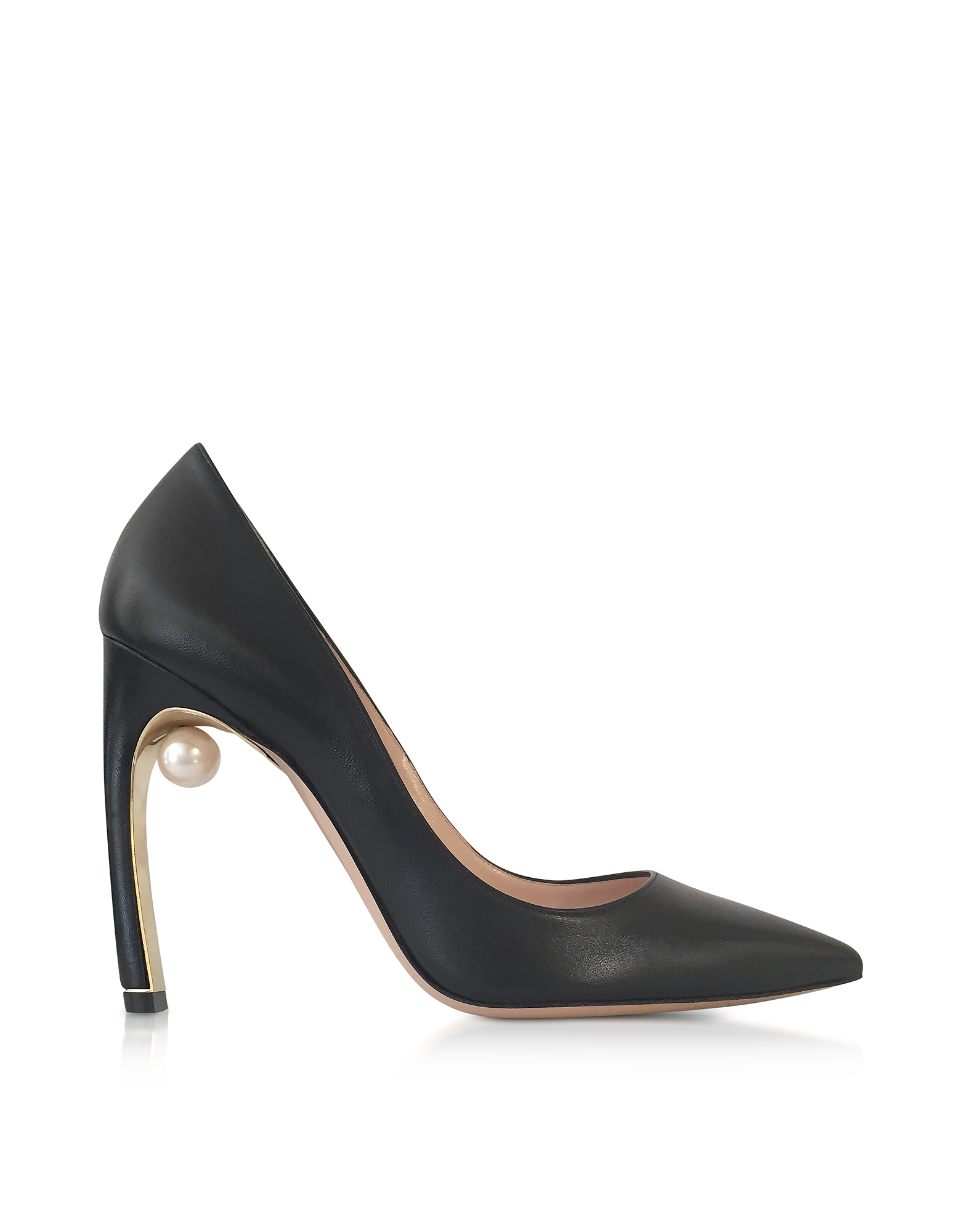 Nicholas Kirkwood Shoes, Black Nappa leather Mira Pearl Pumps