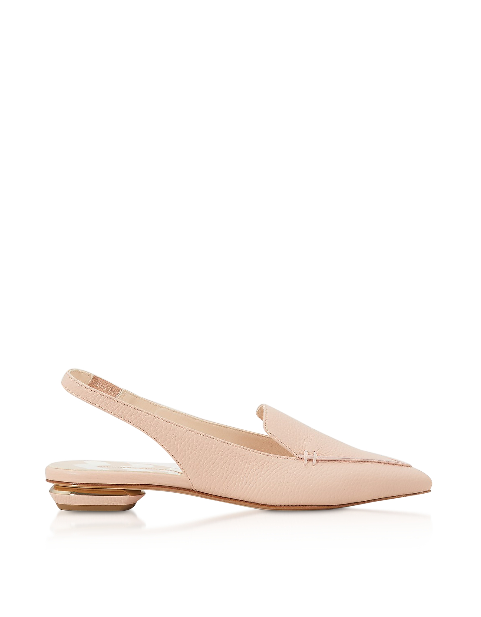 Powder Pink Grainy Leather 18mm Beya SlingBack Ballerinas