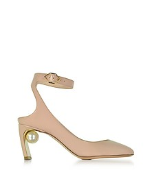 Lola Light Blush Patent Leather Pearl Pump - Nicholas Kirkwood