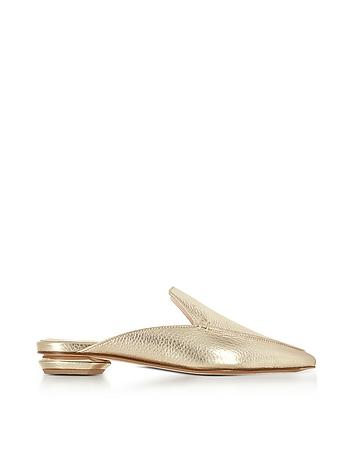 Nicholas Kirkwood - Beya Platino Metallic Tumbled Leather Loafer