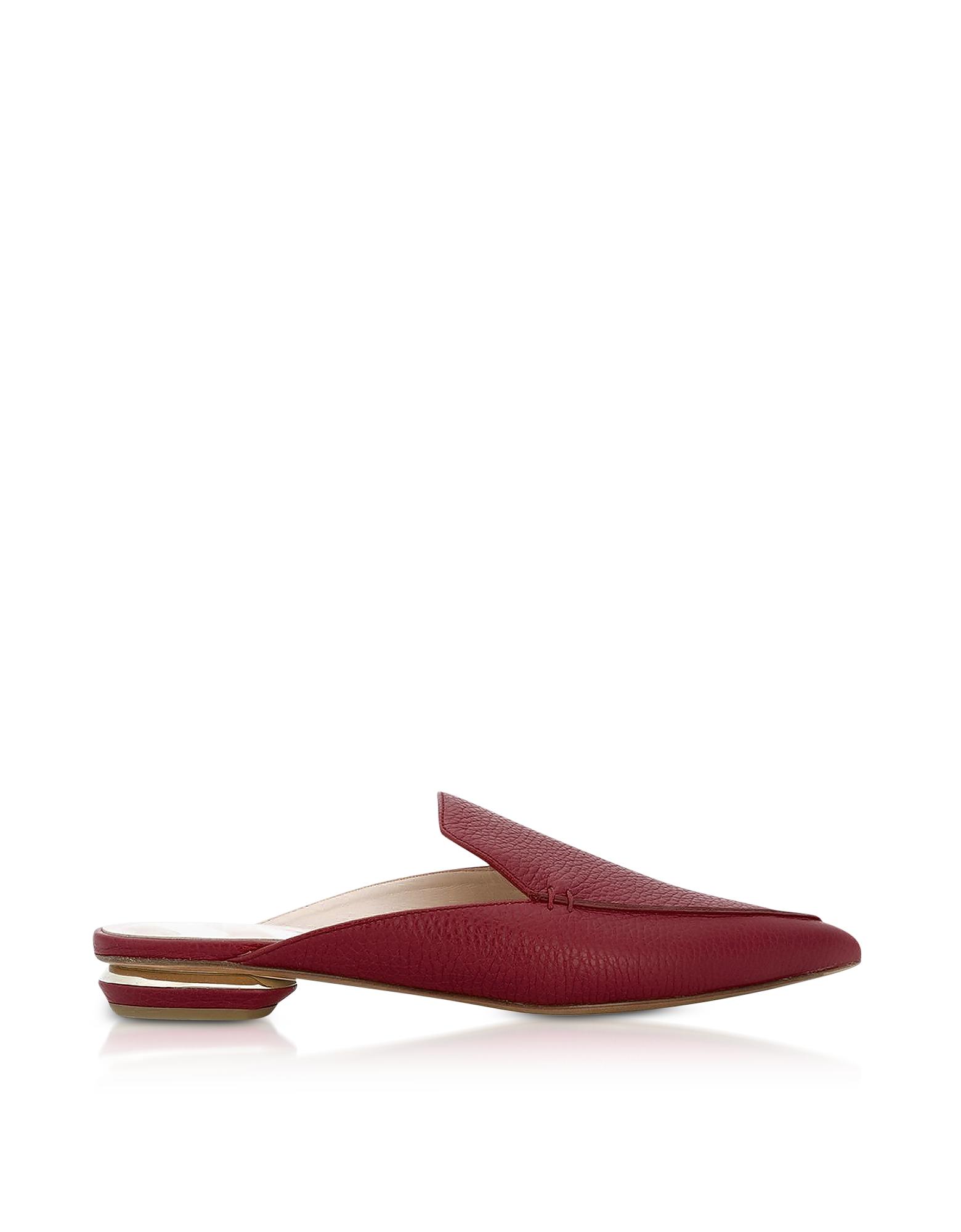 Nicholas Kirkwood Shoes, Beya Burgundy Tumbled Leather Mules