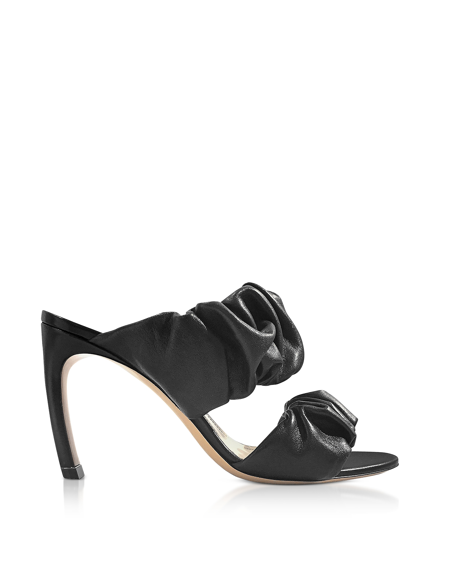 Nicholas Kirkwood Shoes, 90mm Black Nappa Courtney Mules