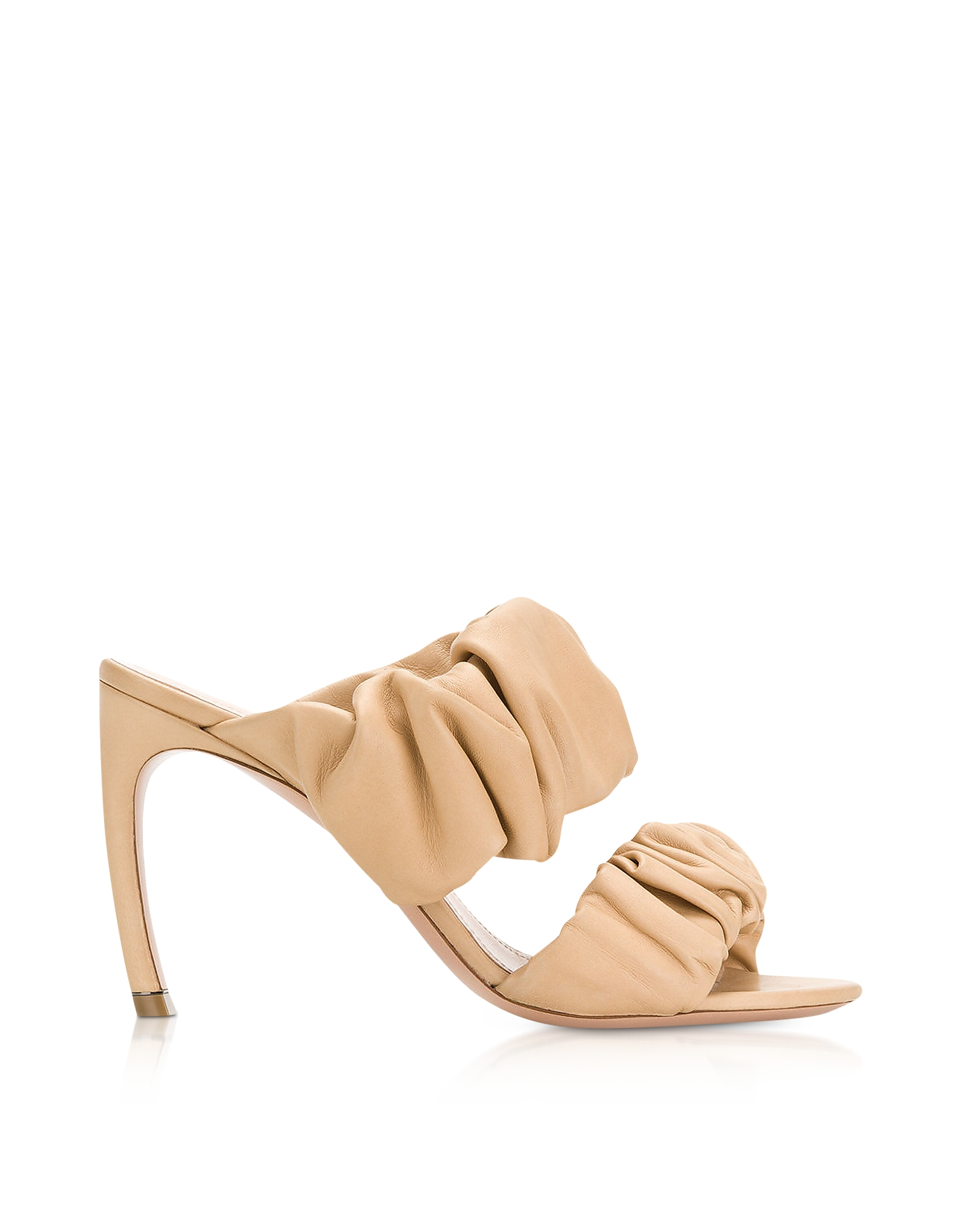 Nicholas Kirkwood Shoes, 90mm Tan Nappa Courtney Mules