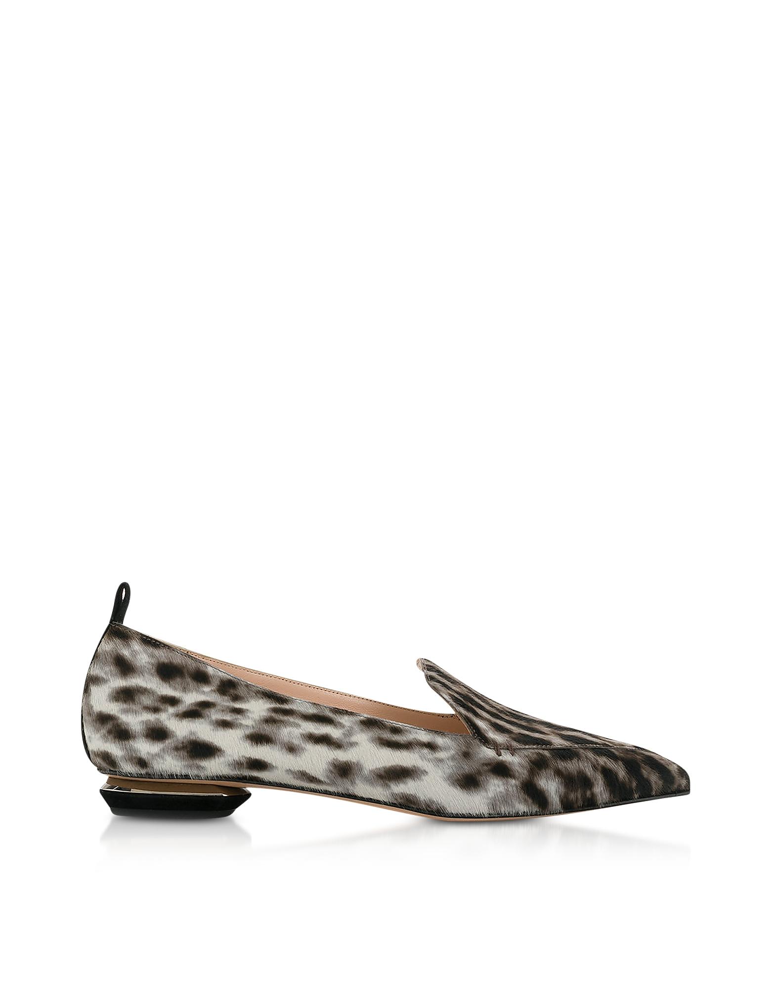 Nicholas Kirkwood Shoes, Leopard Print Beya Loafers