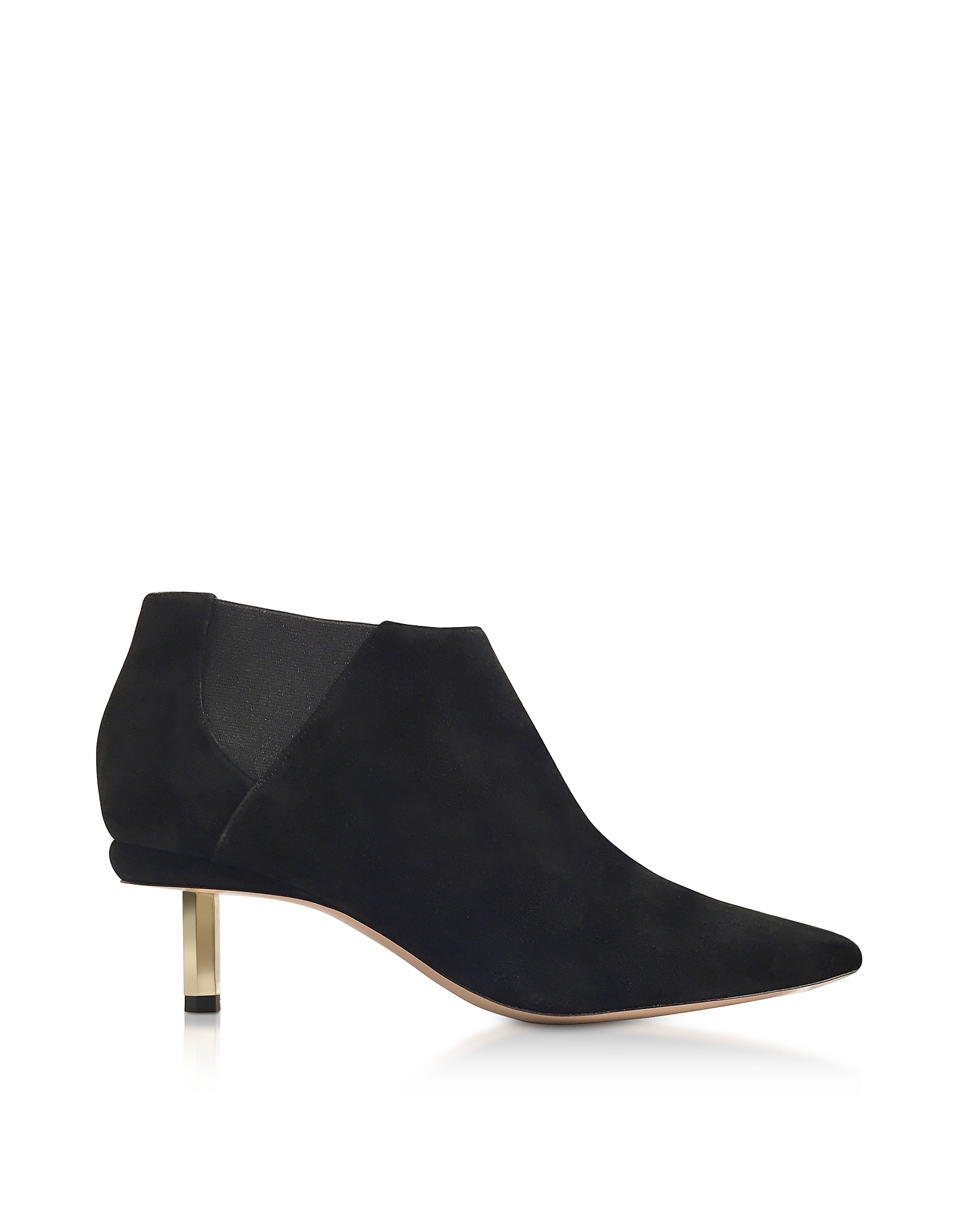 Nicholas Kirkwood Shoes, Black Suede 55mm Polly Chelsea Boots