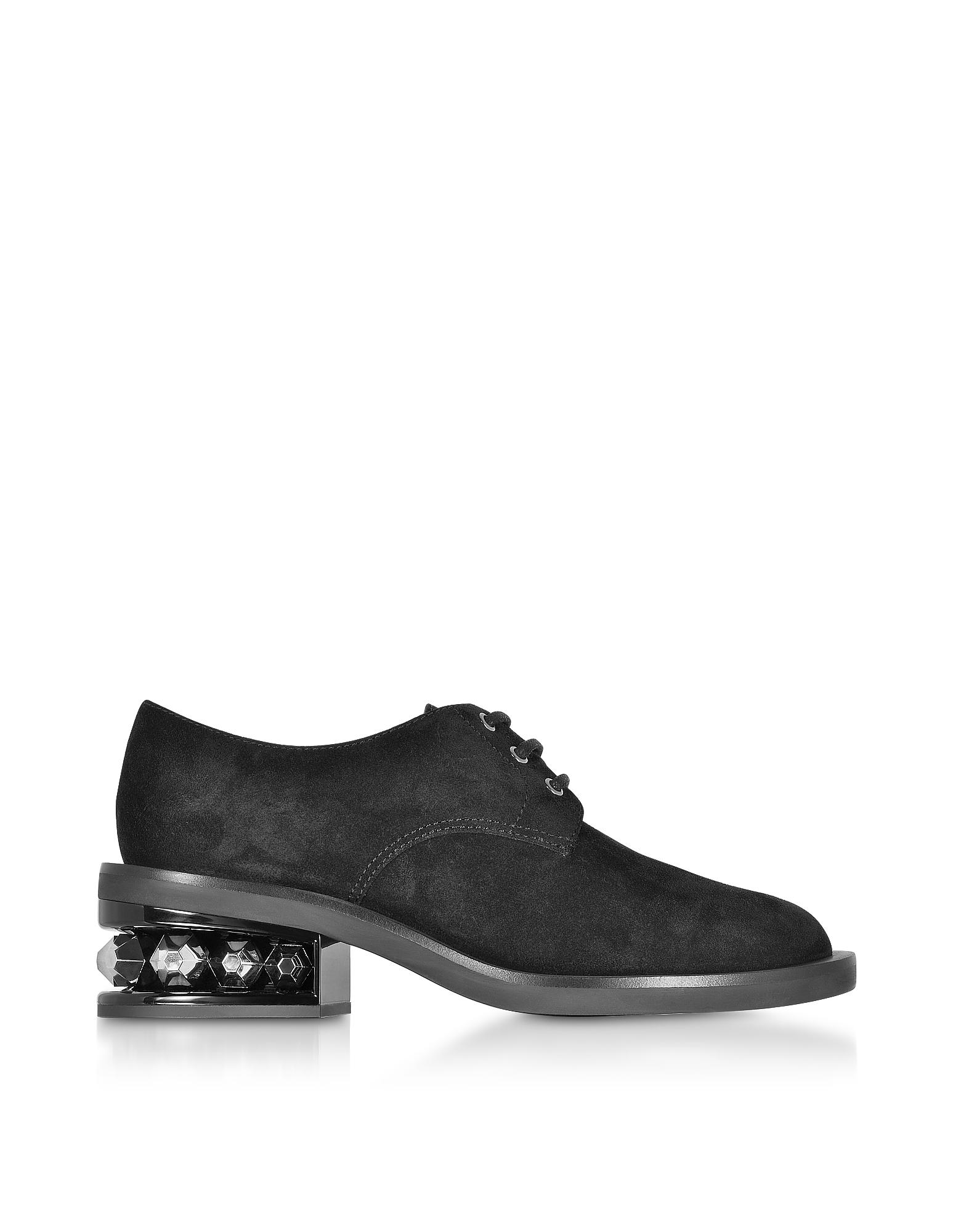 Nicholas Kirkwood Shoes, Black 35mm Suzi Derby Shoes