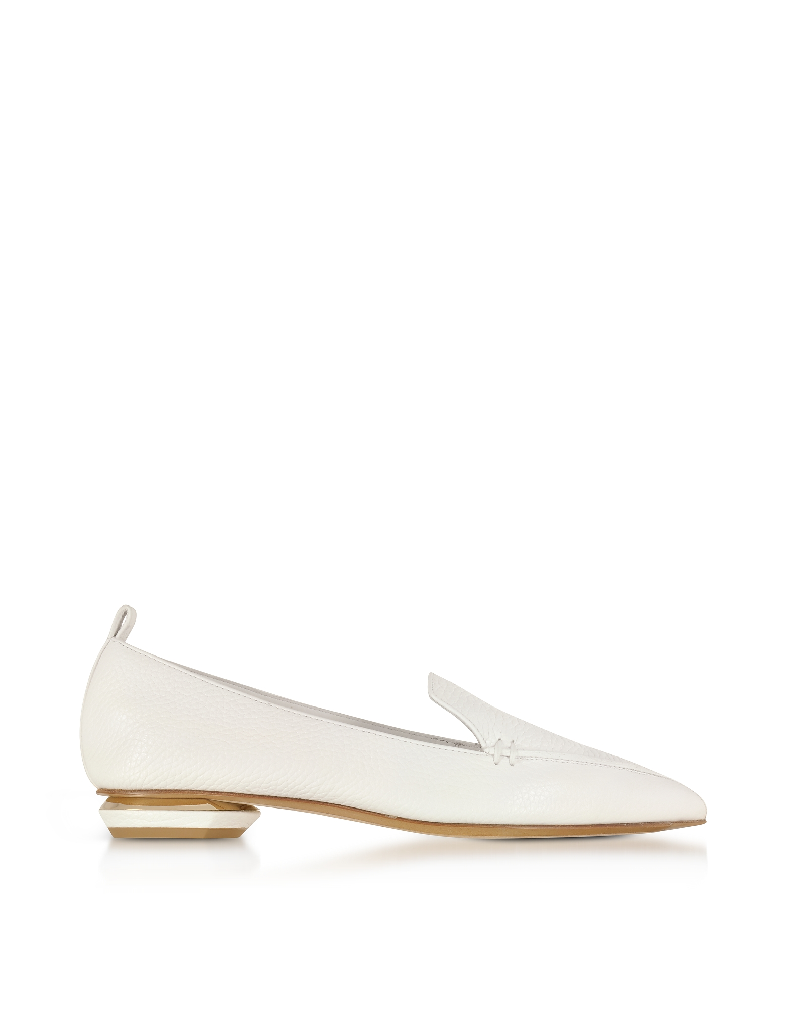 Nicholas Kirkwood Shoes, Beya White Leather Loafer