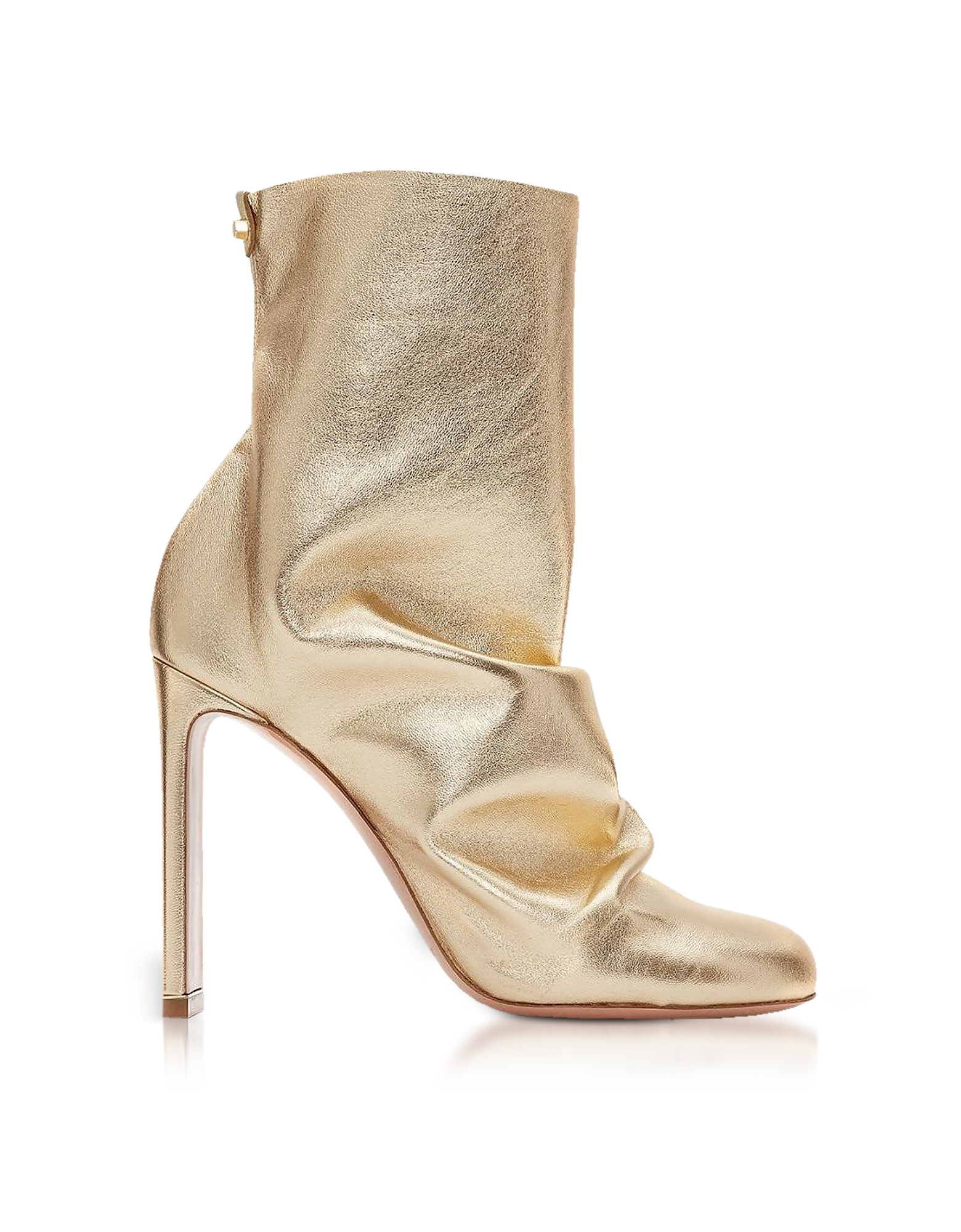 Nicholas Kirkwood Designer Shoes, Light Gold Metallic Nappa 105mm D