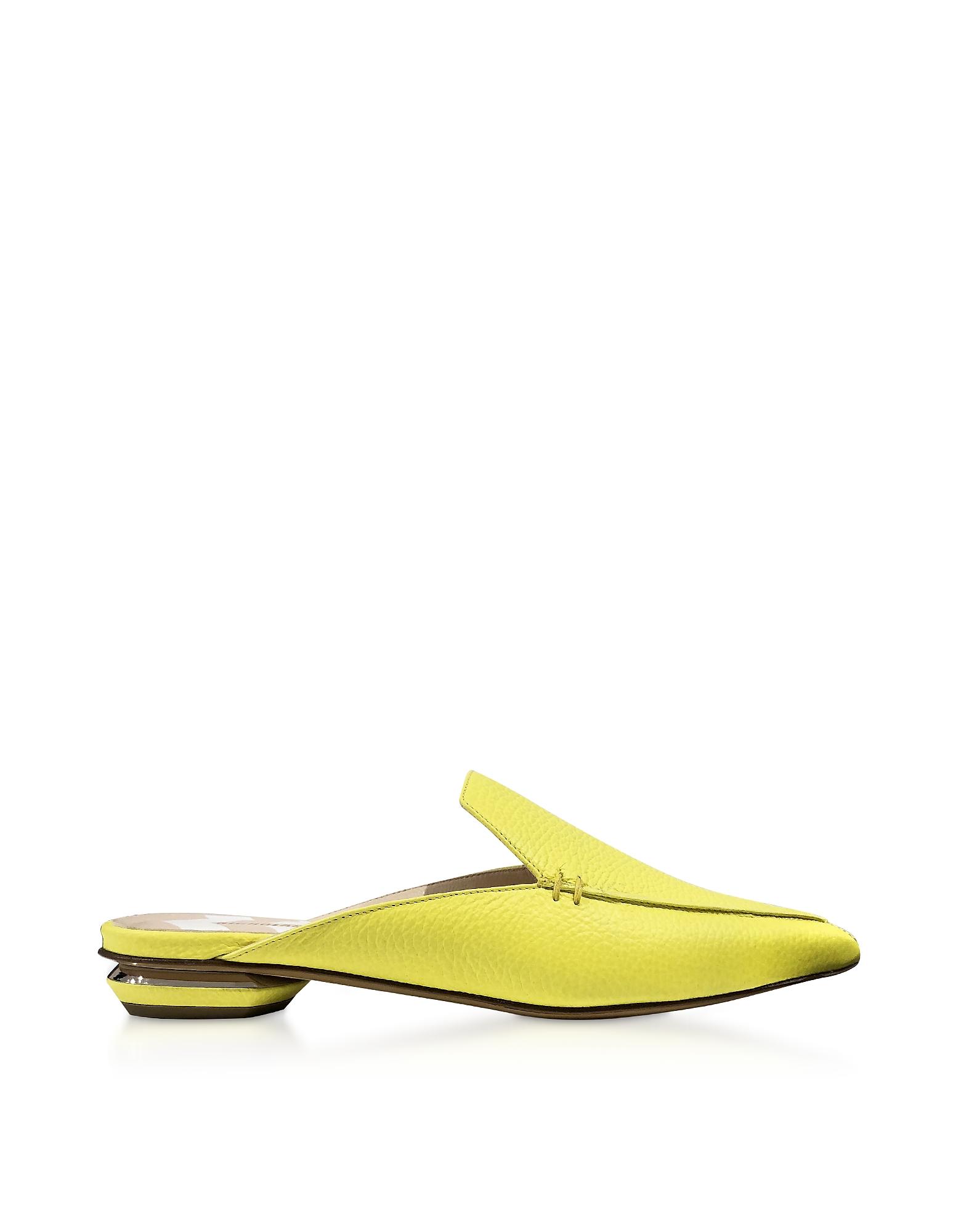 Fluo Yellow 18mm Beya Flat Mules