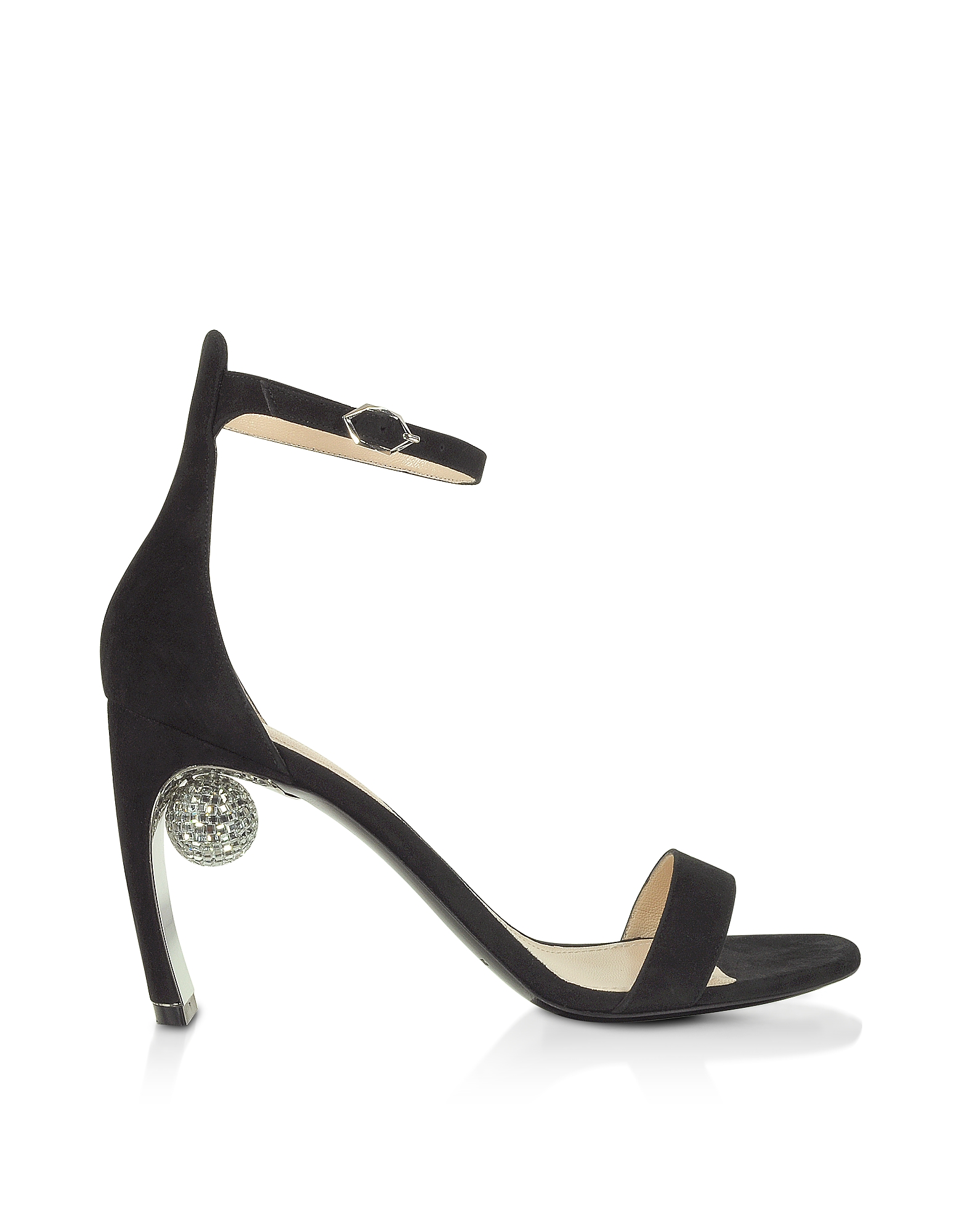 Nicholas Kirkwood Designer Shoes, Black 90mm Maeva Sandals