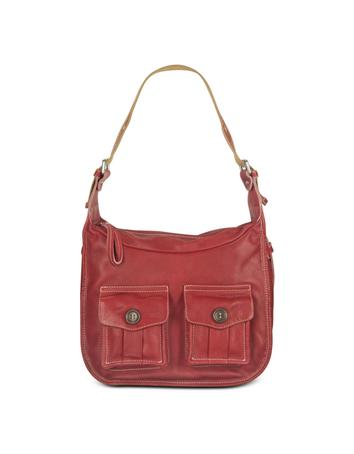Foto der Handtasche Nuovedive Grosse Hobotasche mit doppeltem Frontfach in rot