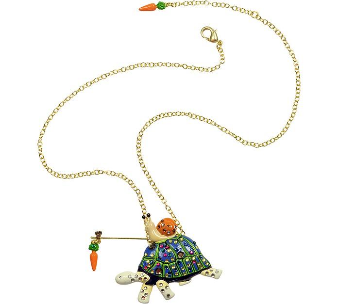 Les Mechamment Joyeux - Turtles and Snail Necklace  - N2