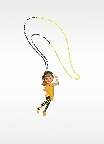 Le Twist - Blond Dancer Long Necklace - N2