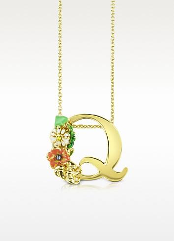 Alphabet Fleuri - Q Charm Necklace - Les Nereides