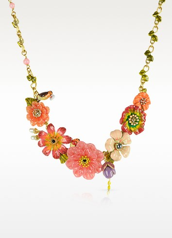 Sous le Chataignier - Robin and Flowers Necklace - Les Nereides