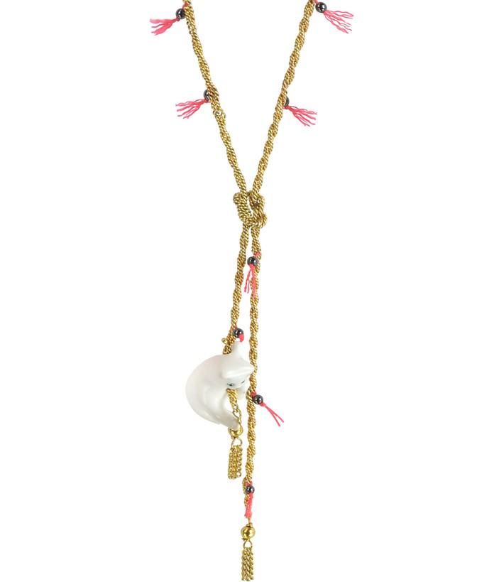 Tout Beau Tout Doux Long Golden Necklace - Les Nereides
