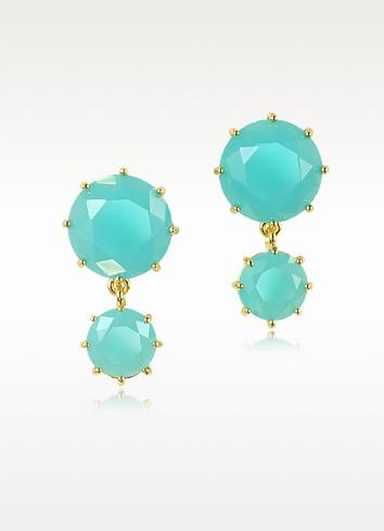 La Diamantine Turquoise Drop Earrings - Les Nereides