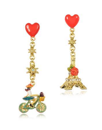Paris mon amour Heart Drop Earrings