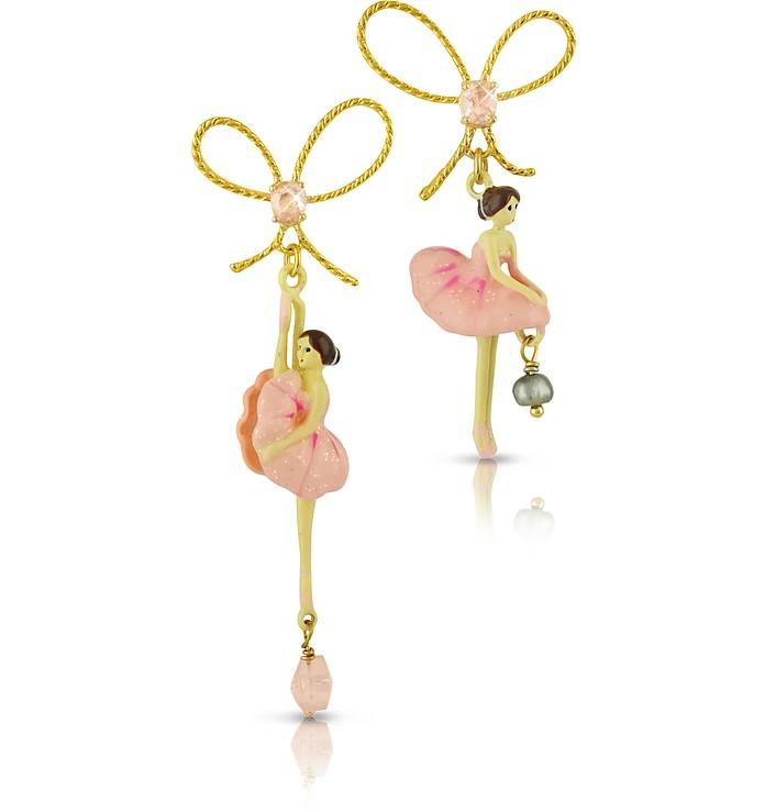 Pas de Deux - Ballerinas Asymmetrical Earrings  - Les Nereides