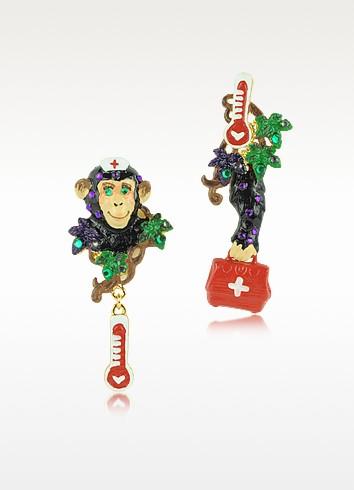 Les Mechamment Joyeux - Nurse Bobette Long Earrings - N2
