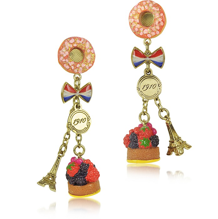 Poids de Plaisir - Tea Time in Paris Clip-On Earrings - N2