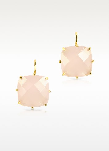 La Diamantine Large Squared Drop Earrings - Les Nereides