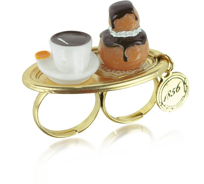 Les Gourmandes - Кольцо с Пирожным и Кафе - N2