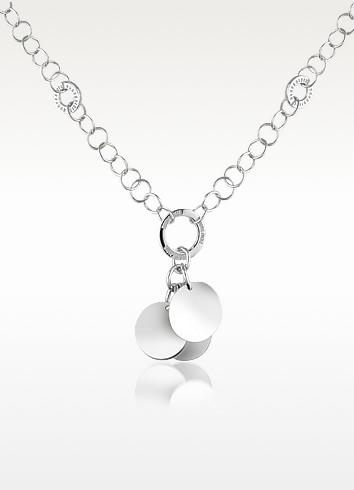 Sterling Silver Charm Pendant Necklace - Nuovegioie