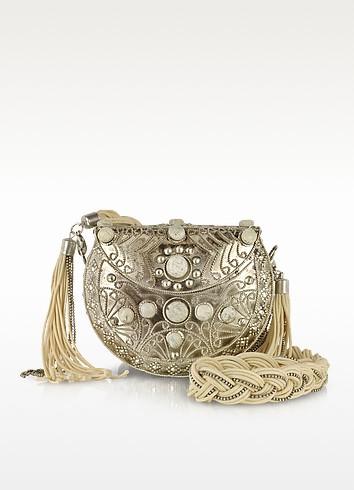 Minaudiere Opium Ivory Shoulder Bag - Antik Batik