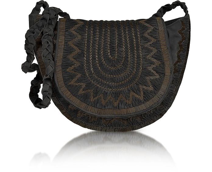 Douma Beaded Leather Shoulder Bag - Antik Batik