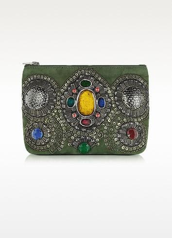 Byzance Embroidered Pouch Wallet - Antik Batik