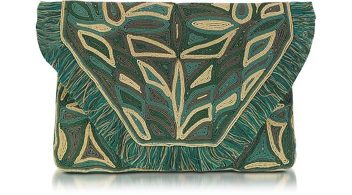 Austeen Leather Clutch Handbag - Antik Batik