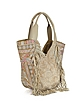 Nana Embroidered Canvas an Leather Hobo Bag - Antik Batik