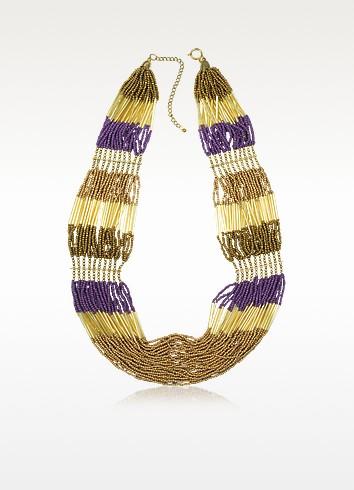 Nytia - Golden Beads Necklace - Antik Batik