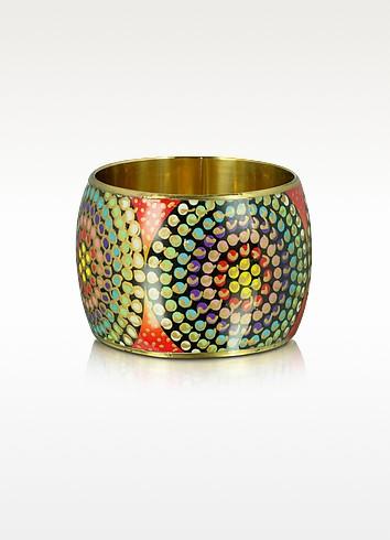 Irma - Multicolor Metal and Resin Bangle - Antik Batik