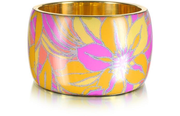 Delphi Multicolor Resin Bangle Bracelet - Antik Batik