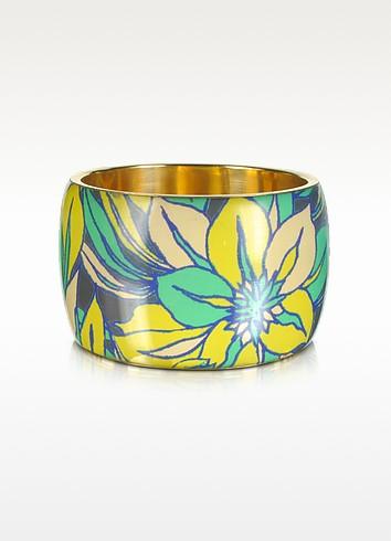 Delphi Multicolor Resin Bangle Bracelet - Antik Batik / アンティックバティック