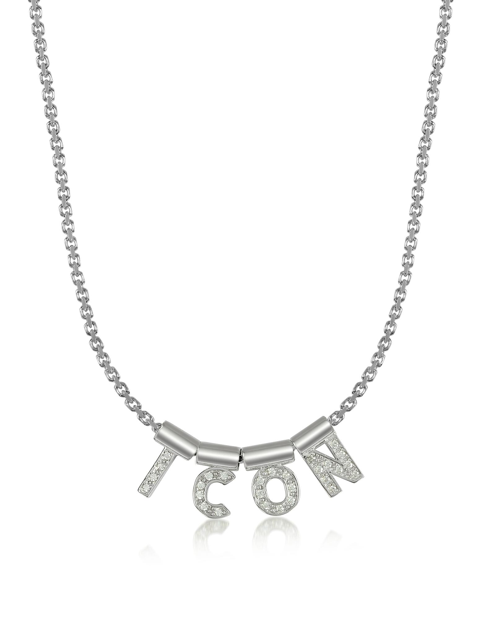 Nomination Designer Necklaces, Sterling Silver and Swarovski Zirconia Icon Necklace