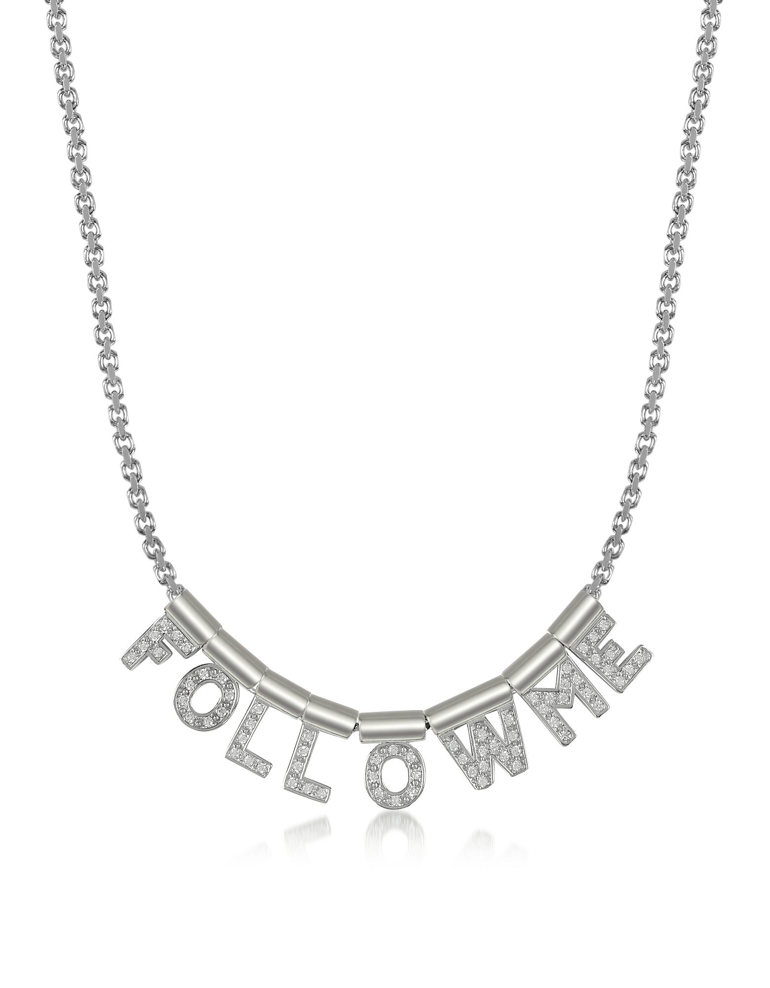 NOMINATION | Nomination Designer Necklaces, Sterling Silver And Swarovski Zirconia Follow Me Necklace | Goxip
