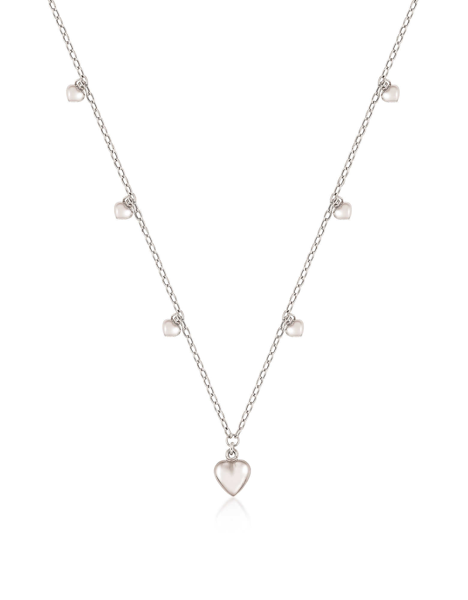 Nomination  Necklaces Sterling Silver Mini Hearts Charm Necklace