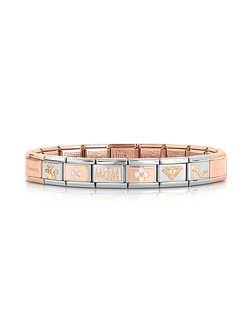 Classic Mom Rose Gold and Stainless Steel Bracelet